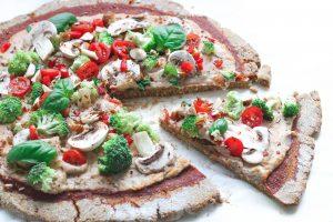 Pizza vegana sin gluten
